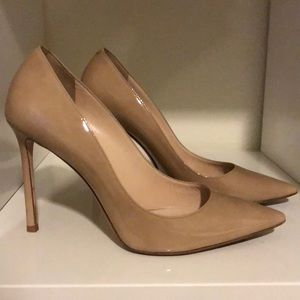 JIMMY CHOO ROMY 100mm Nude Patent Pump